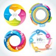 Abstract Circle Infographics Design Template — Stock Vector