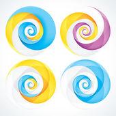 Abstract Infinite Loop Swirl Template. EPS10 — Stock Vector