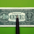 Banknotes and pen — Stock Photo