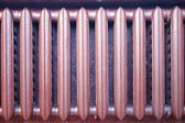 Heating elements from cast iron — Stock Photo