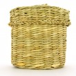 Stock Photo: Wattled basket from reed