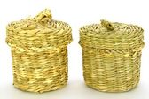 Wattled basket from a reed — Stockfoto