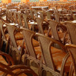Ranks of chairs — Stock Photo
