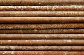 Pipes are laid in a stack — Stock Photo