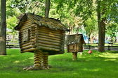 Fantastic hut on chicken legs — Stock Photo