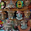 Figurines and masks of Indian tribes — Stock Photo #27764955