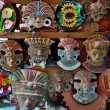 Figurines and masks of Indian tribes — Stock Photo