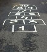 Game on asphalt — Stock Photo
