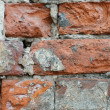 The old brick wall collapses — Stock Photo