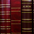 Background from cover of photograph albums — Stock Photo #32938781