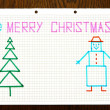 Children's drawing Merry Christmas — Stock Photo