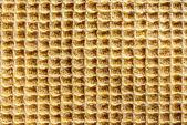 Wafer texture of fabric closeup — Stock Photo