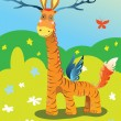 Постер, плакат: Puzzle for kids with answers Wonderful enigmatic animal Guess the animal