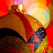 Glittery Christmas ornament — Stock Photo