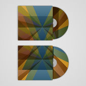 Vector cd cover set for your design, abstract Illustration. — Stock Vector