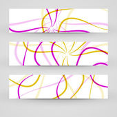 Vector banner set for your design — Stock Vector