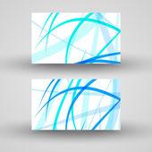 Vector-visitekaartje ingesteld voor uw ontwerp — Stockvector