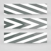 矢量旗帜设置为您的设计 — 图库矢量图片