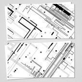 Vektör kartvizit tasarımı için ayarla — Stok Vektör