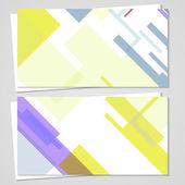 矢量名片设置为您的设计 — 图库矢量图片