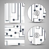 Pochette de cd vecteur défini pour votre conception — Vecteur