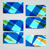 Vector business-card set for your design. — Stock Vector