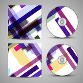 Vektor cd-cover-set für ihr design — Stockvektor