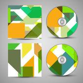 Vektör cd kapak tasarımı için ayarla — Stok Vektör