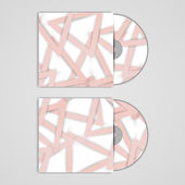 Vector cd-cover instellen voor uw ontwerp — Stockvector
