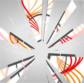 Abstract technology circles background — Stock Vector