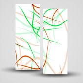 Vektörel banner tasarımınız için ayarla — Stok Vektör
