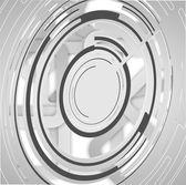 Streszczenie technologia tło koła — Wektor stockowy