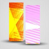 Bandiera vettoriale impostato per il vostro disegno — Vettoriale Stock