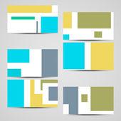 Vektor Visitenkarten-set für Ihr design — Stockvektor