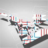 Futuristic geometric background — Stock Vector