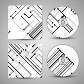 Copertina cd vettoriale impostato per il vostro disegno — Vettoriale Stock