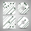 Vector cd cover  set for your design — Stock Vector