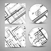 あなたのデザインの設定ベクトル cd カバー — ストックベクタ