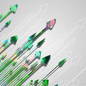 Fondo de diseño flecha. — Vector de stock