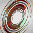 Abstract technology circles background — Vector de stock