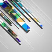 Abstrakte futuristisch geometrische formen — Stockvektor