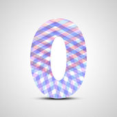 Abstract number collection - 0 — Stock Vector