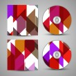 Stock Vector: Vector cd cover set for your design