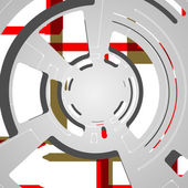 Abstrait pour la conception de technologie futuriste — Vecteur