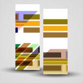 Vektor-Banner für Ihren Entwurf festlegen — Stockvektor