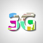 Three G abstract symbol — Stock Vector