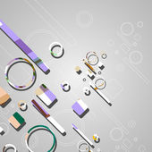 Plano de fundo colorido abstrato círculos — Vetorial Stock
