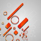 Kleurrijke abstracte cirkels achtergrond — Stockvector