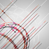 Pozadí abstraktní kruhy — Stock vektor