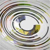 Tecnologia astratto sfondo cerchi — Vettoriale Stock